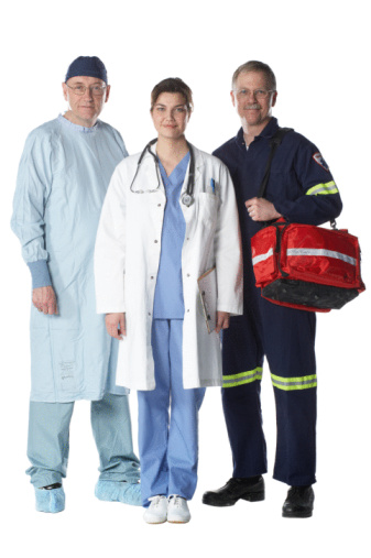 picture of healthcare providers and possible ACLS students