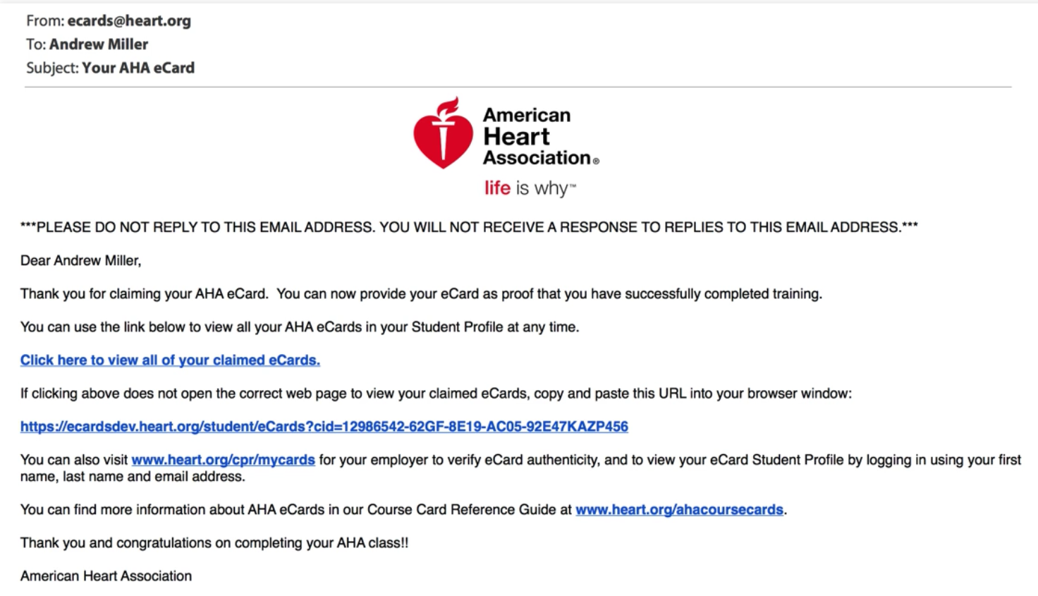 How To Claim Your Aha Ecard